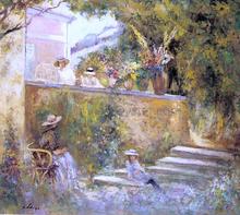 Nono and Madame Lebasque in the Garden - Henri Lebasque