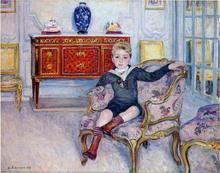 A Young boy in an interior - Henri Lebasque