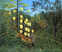 Combat of a Tiger and a Buffalo - Henri Rousseau