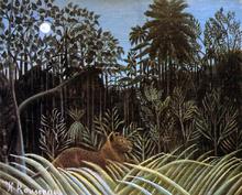 Jungle with Lion - Henri Rousseau