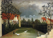 The Poultry Yard - Henri Rousseau