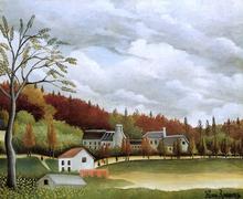 View of Bievre-sur-Gentilly - Henri Rousseau