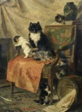 Kittens at Play - Vertical - Henriette Ronner-Knip