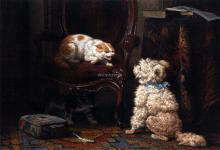 The Uninvited Guest - Henriette Ronner-Knip