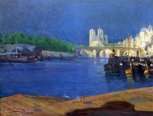 View of the Seine Looking toward Notre Dame