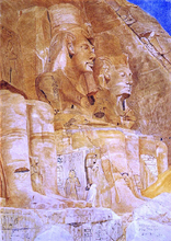 The Third and Fourth Figures at Abu Simbel - Henry Roderick Newman