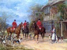 A Halt at the Inn - Heywood Hardy