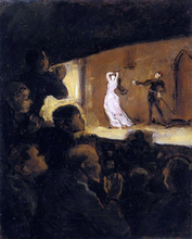 At the Theater - Honore Daumier