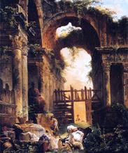 A Roman Ruin - Hubert Robert