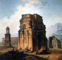 The Arc de Triomphe and the Theatre of Orange - Hubert Robert