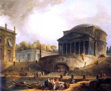 Vue du Port de Ripetta, a Rome - Hubert Robert