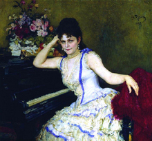 Portrait of Pianist and Professor of Saint-Petersburg Conservatory Sophie Menter - Ilia Efimovich Repin