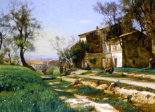 The Outskirts of Nice - Iosif Evstafevich Krachkovsky