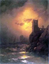 Tower, Shipwreck - Ivan Constantinovich Aivazovsky