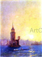 View of the Leander Tower in Constantinople - Ivan Constantinovich Aivazovsky