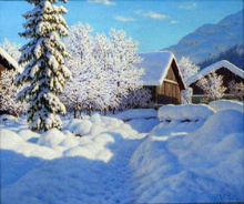 Snow and Blizzards Paintings