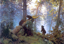 Morning in Piny Wood - Ivan Ivanovich Shishkin