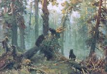 Morning in Piny Wood (study) - Ivan Ivanovich Shishkin