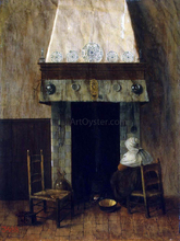 An Old Woman by a Fireplace - Jacobus Vrel