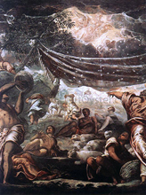 The Miracle of Manna (detail: 1)
