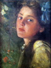 A Wistful Look - James Carroll Beckwith