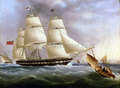 A Three-Masted Ship off Dover