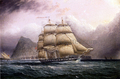 American Frigate off Gilbraltar