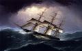 Clipper in a Heavy Sea