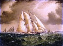 Schooners Racing off Sandy Hook - James E Buttersworth