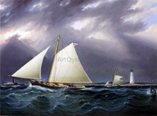 A Match between the Yachts Vision and Meta - Rough Weather - James E Buttersworth