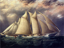 Yacht 'Alice' Rounding the Buoy - James E Buttersworth
