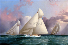 Yacht 'Sappho' Beating to the Wind - James E Buttersworth
