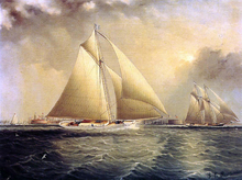 Yachting in New York Harbor - James E Buttersworth