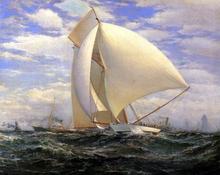 Defender Defeating Valkyrie III, September 7, 1895 - James Gale Tyler