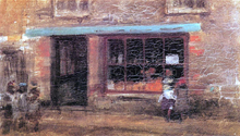 Blue and Orange: The Sweet Shop - James McNeill Whistler