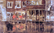The Canal, Amsterdam - James McNeill Whistler