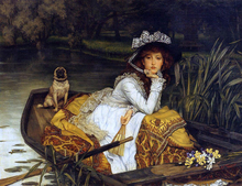 Young Woman in a Boat - James Tissot