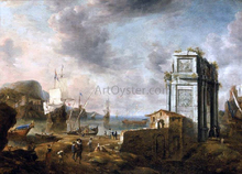 Capriccio of a Mediterranean Harbour - Jan Abrahamsz Beerstraten