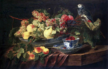 Still-life with Fruits and Parrot - Jan Fyt