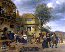 Peasants Before an Inn - Jan Steen
