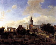 Amsterdam: Street before Haarlem Tower - Jan Van der Heyden