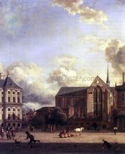 Dam Square, Amsterdam - Jan Van der Heyden