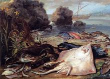 The Day's Catch (detail) - Jan Van I Kessel