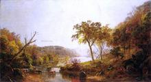 Autumn on Ramapo River, New Jersey - Jasper Francis Cropsey
