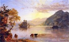 Lake George: Sun Behind a Cloud - Jasper Francis Cropsey