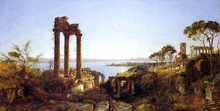 Overlooking the Bay of Naples - Jasper Francis Cropsey
