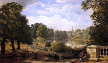 The Serptentine, Hyde Park, London - Jasper Francis Cropsey