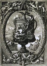 Vase in a Cartouche