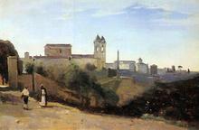 Rome, Monte Pinco, the Trinita dei Monte, View from the Garden of the Academie de France