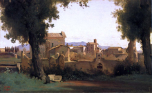 View in the Farnese Gardens - Jean-Baptiste-Camille Corot